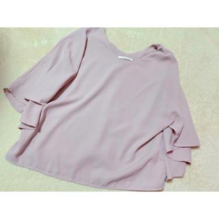 シマムラ(しまむら)のしまむら ポンチョ トップス  Tシャツ ティーシャツ ピンク ラベンダー(Tシャツ(長袖/七分))