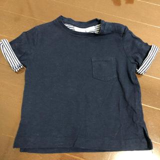 ザラ(ZARA)のボーダー ネイビー Tシャツ(Tシャツ)