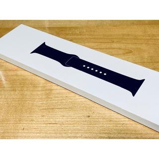 アップルウォッチ(Apple Watch)の未使用 Apple Watch 44mm 純正スポーツバンド ブラック(ラバーベルト)