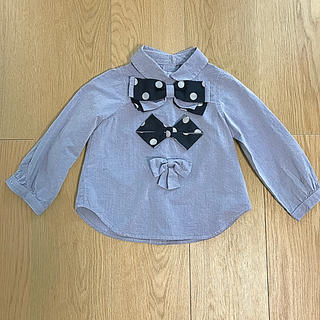 フィス(FITH)のmelt リボンシャツ 100(ブラウス)