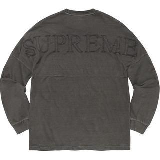 シュプリーム(Supreme)のL Supreme Overdyed L/S Top 黒 国内正規品(Tシャツ/カットソー(七分/長袖))