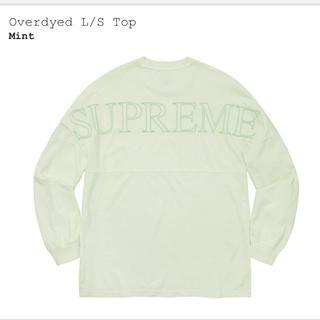 シュプリーム(Supreme)のSupreme Overdyed L/S top Mint L(Tシャツ/カットソー(七分/長袖))