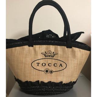 トッカ(TOCCA)の美品🌟TOCCA   カゴバッグ ブラック(かごバッグ/ストローバッグ)