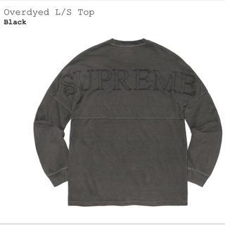シュプリーム(Supreme)のsupreme overdyed L/S top black(Tシャツ/カットソー(七分/長袖))