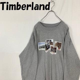 ティンバーランド(Timberland)の【人気】Timberland 長袖Tシャツ ライトグレー XXL ビックサイズ(Tシャツ/カットソー(七分/長袖))