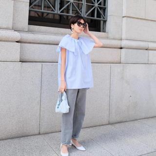 ドゥロワー(Drawer)の20SS machatt 完売 フリルシャツ ストライプ(Tシャツ(半袖/袖なし))