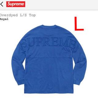 シュプリーム(Supreme)のシュプリーム supreme Overdyed L/S Top ブルー Lサイズ(Tシャツ/カットソー(七分/長袖))