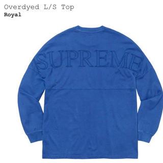 シュプリーム(Supreme)のSupreme Overdyed L/S Top Royal XL(Tシャツ/カットソー(七分/長袖))