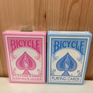 【未開封+開封品】BICYCLE トランプ パステルピンク おまけブルー(トランプ/UNO)