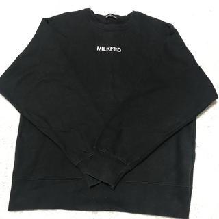 ミルクフェド(MILKFED.)のミルクフェド  刺繍ロゴ トレーナー(トレーナー/スウェット)