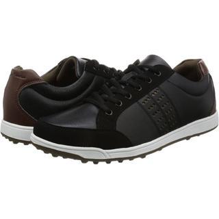 アサヒゴルフ(朝日ゴルフ)の ゴルフ スパイクレスシューズ メンズ 26cm ブラック 軽量 3.5E(シューズ)