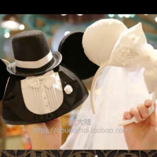 デイジー(Daisy)の専用!セット!結婚式ウエディング カチューシャハット ミッキー帽子上海ディズニー(キャラクターグッズ)