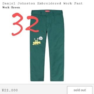シュプリーム(Supreme)のsupreme Daniel Johnston  Work pants 32(ワークパンツ/カーゴパンツ)