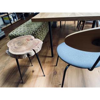 ACTUS 無垢 極厚チェア スツール 椅子 古材 木材 アイアン アクタス(スツール)