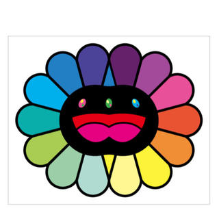 村上隆 版画 Multicolor Double Face Black (版画)