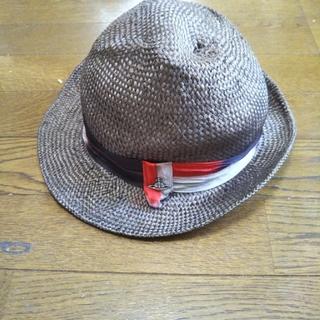 ヴィヴィアンウエストウッド(Vivienne Westwood)のVivienne Westwood MAN 麦わら帽子 オーブ柄(ハット)