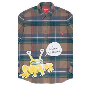シュプリーム(Supreme)のsupreme Daniel Johnston Plaid Shirt Lサイズ(シャツ)