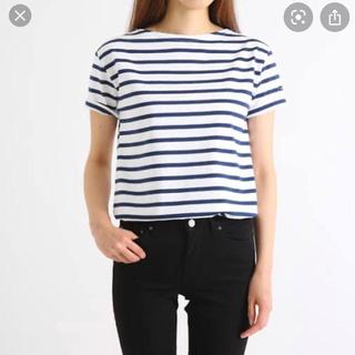 ルミノア(Le Minor)のルミノア ボーダー カットソー フレンチスリーブ 半袖 美品(カットソー(半袖/袖なし))