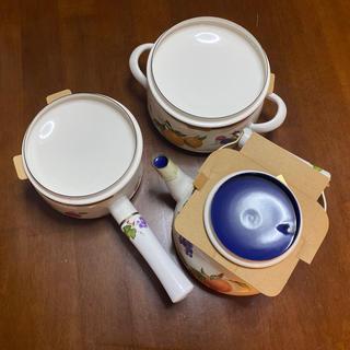 フジホーロー(富士ホーロー)のフルータスコレクション 鍋+やかんセット(調理道具/製菓道具)
