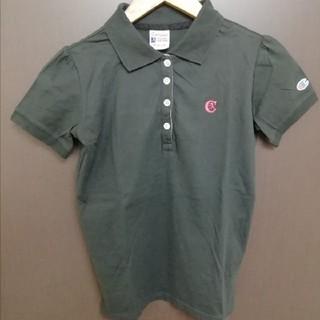 チャンピオン(Champion)の美品 チャンピオン レディース M  ポロシャツ 濃いチャコールグレー 綿(ポロシャツ)