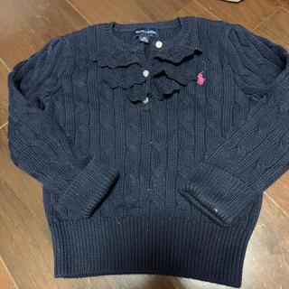 ラルフローレン(Ralph Lauren)のラルフローレン紺色フリルニット長袖セーター90(ニット)