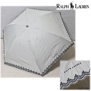 Ralph Lauren - 《ラルフローレン》新品 刺繍 晴雨兼用折りたたみ傘 軽量 1級遮光生地使用