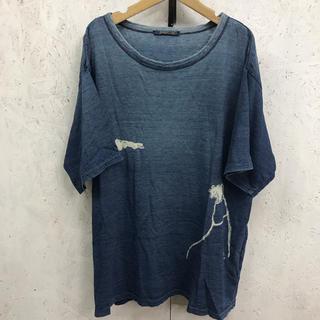 フォーティーファイブアールピーエム(45rpm)の45rpm Tシャツ インディゴ 藍染め(Tシャツ/カットソー(半袖/袖なし))