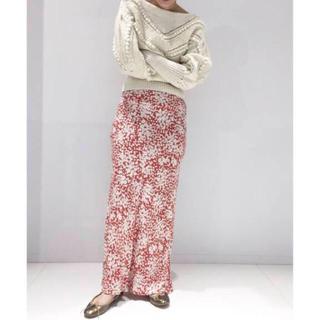 エディットフォールル(EDIT.FOR LULU)のエディットフォールル  フラワーバイアスマキシスカート レッド サイズ36(ロングスカート)
