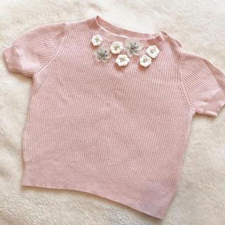 スナイデル(snidel)の美品♡スナイデルガール♡モチーフコンパクトニット 110サイズ(Tシャツ/カットソー)