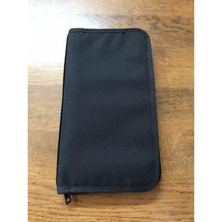MUJI (無印良品) - 無印 パスポートケース クリアポケットつき 黒