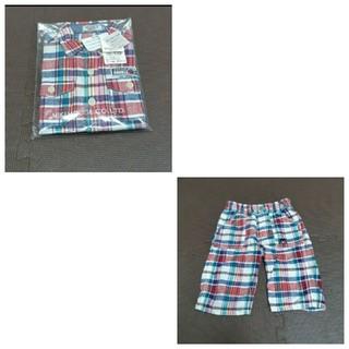 ダブルビー(DOUBLE.B)のサイズ110 半袖シャツ 6分丈パンツ セットアップ(ブラウス)