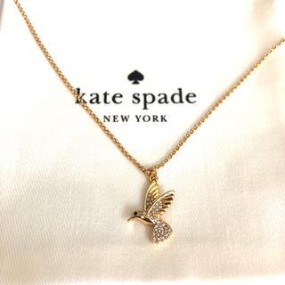 ケイトスペードニューヨーク(kate spade new york)のケイトスペード ゴールドネックレス  小鳥バード スワロフスキー ブランド 新品(ネックレス)