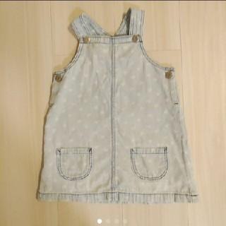 エイチアンドエム(H&M)のH&M デニム ハート ジャンパースカート ワンピース スカート(ワンピース)