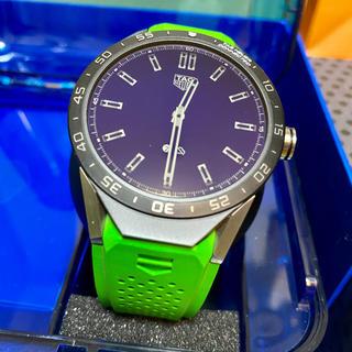 タグホイヤー(TAG Heuer)のTAG HEUER タグ・ホイヤー コネクテッド グリーンラバー レア 美品(腕時計(デジタル))