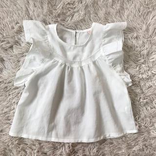 petit main - 韓国子供服のかわいいふんわりフリルブラウス 120