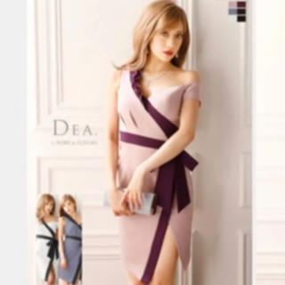 ローブ(ROBE)のローブドフルール DEA  ディア バイカラー オフショル ROBE  ドレス(ミニドレス)