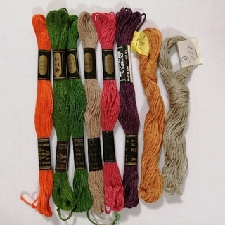 オリンパス(OLYMPUS)の刺繍糸 OLYMPUS★8本:B★ オリムパス 25番 刺しゅう糸(生地/糸)