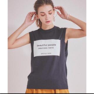 ビューティフルピープル(beautiful people)のbeautiful people 2018ssビッグネームタンクトップblack(Tシャツ/カットソー(半袖/袖なし))