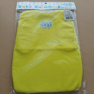 新品 格安!ベビースイミング 男の子 女の子 ハーネス 黄色 M フットマーク(水着)
