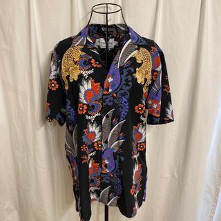トップマン(TOPMAN)のTOPMAN トップマン タイガー刺繍アロハシャツ(シャツ)