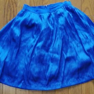 マリリンムーン(MARILYN MOON)のシフォンスカート(ひざ丈スカート)