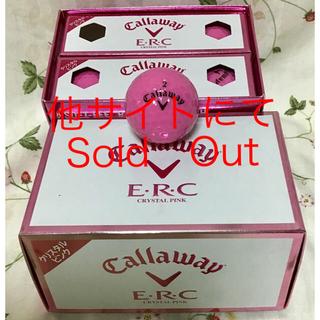 キャロウェイ(Callaway)の新品◆キャロウェイ E・R・C◆クリスタルピンク◆レディースゴルフボール1ダース(その他)