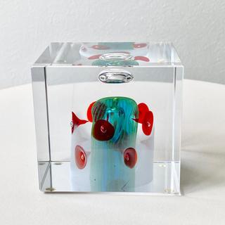 イッタラ(iittala)の2001年 アニュアルキューブ オイバ・トイッカ  イッタラ バード キューブ(置物)