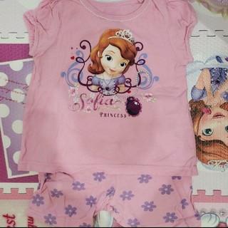 ディズニー(Disney)のベビー パジャマ 80 半袖 夏物 ソフィア ディズニー 女の子 夏用(パジャマ)