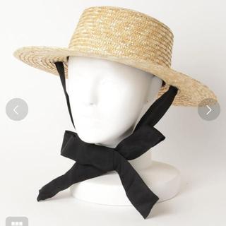 フリークスストア(FREAK'S STORE)の麦わら帽子 フリークスストア リボン付き麦わらハット 2wayカンカン帽(麦わら帽子/ストローハット)