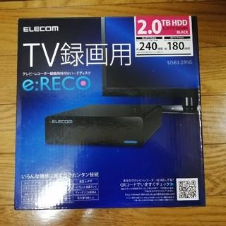 エレコム(ELECOM)のuu様 専用 ELECOM 外付けハードディスク 2TB(DVDレコーダー)