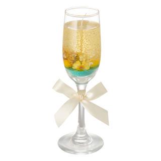フランフラン(Francfranc)のリノ シャンパンフルート キャンドル イエロー(キャンドル)