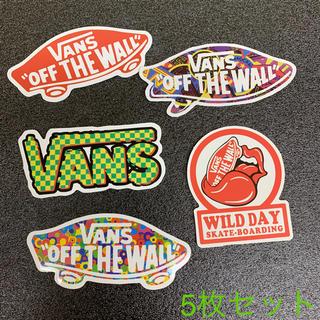 """ヴァンズ(VANS)の●5枚セット● 検品済輸入品 VANS """"OFF THE WALL"""" ステッカー(ステッカー)"""