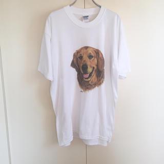 ロキエ(Lochie)の90s 犬 Tシャツ ヴィンテージ jantiques(Tシャツ/カットソー(半袖/袖なし))