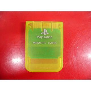 プレイステーション(PlayStation)のPS1 SONY PlayStation用メモリーカード (クリアイエロー)(その他)